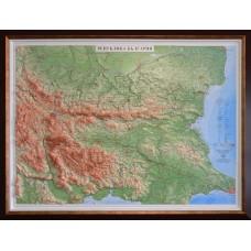 Raised-relief map of Bulgaria - luxе