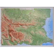 Raised-relief map of Bulgaria