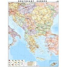 The Balkan peninsula - political map