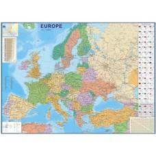 Европа - политическа карта на английски език