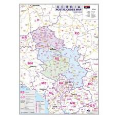 Serbia Postal Codes Map