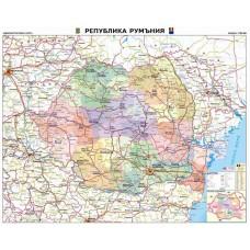 Карта на Румъния