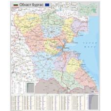 Карта на област Бургас