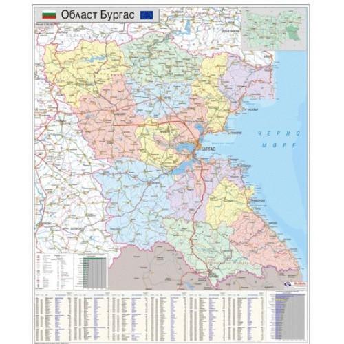 Karta Na Oblast Burgas