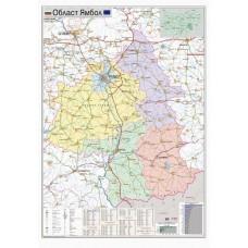 Yambol region map