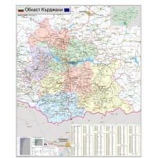 Карта на област Кърджали