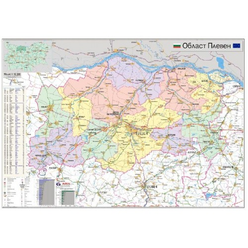 Karta Na Oblast Pleven