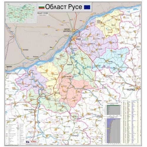 Karta Na Oblast Ruse