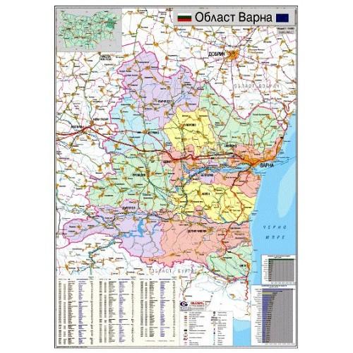 Karta Na Oblast Varna