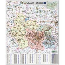 Карта на област Габрово