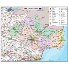 Dobrich region map