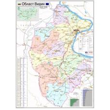 Vidin region map