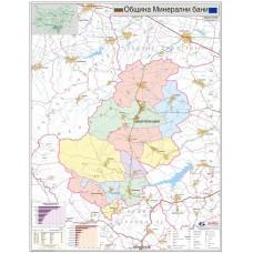 Mineralni bani municipality map