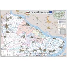 Novo selo municipality map