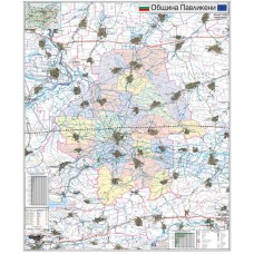 Pavlikeni municipality map