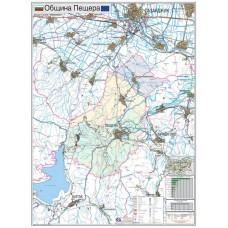 Peshtera municipality map