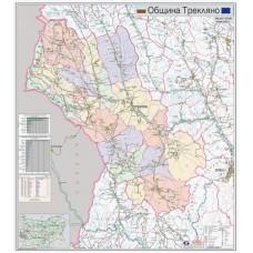 Treklyano municipality map