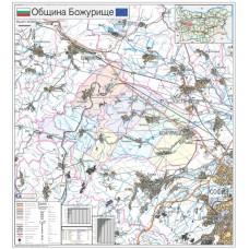Bozhurishte municipality map