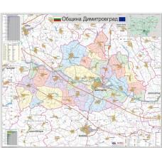 Dimitrovgrad municipality map