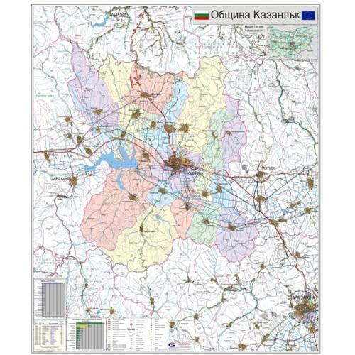 Karta Na Obshina Kazanlk