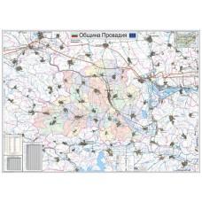 Provadia municipality map
