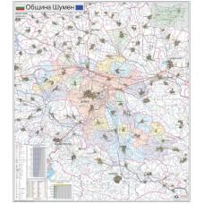 Shumen municipality map