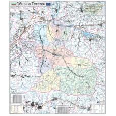Teteven municipality map