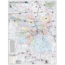 Troyan municipality map